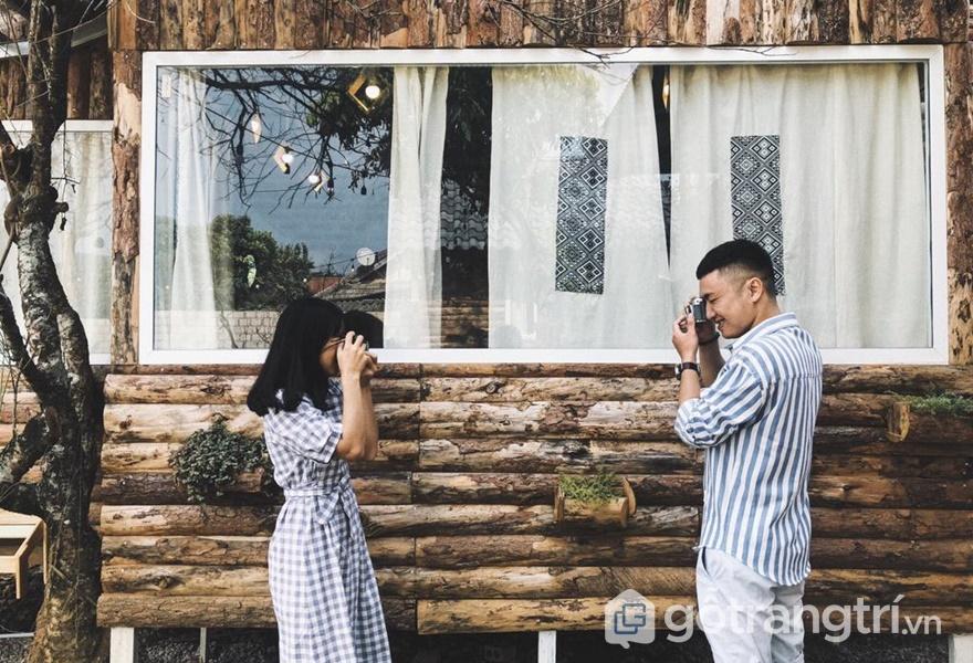 The November – nhà gỗ homestay đẹp ở Mộc Châu (ảnh internet)