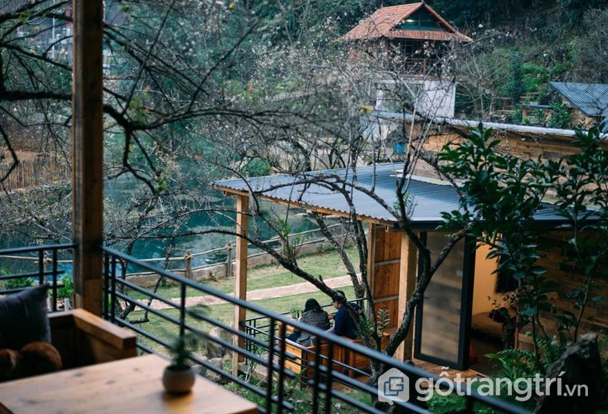 Homestay đẹp ở Mộc Châu nhà bên suối (ảnh internet)