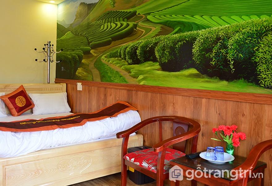 Không gian phòng ở Làng homestay Mộc Châu (ảnh internet)