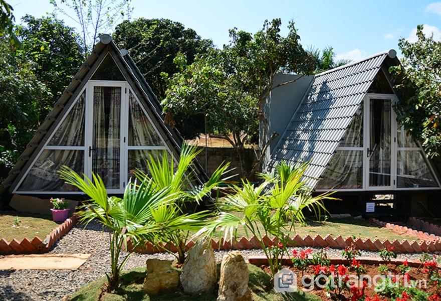 Thiết kế không gian độc đáo tại Làng homestay Mộc Châu (ảnh internet)
