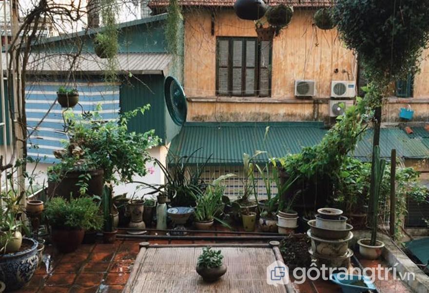 Bầu không khí bình yên nơi căn nhà ngói (ảnh internet)