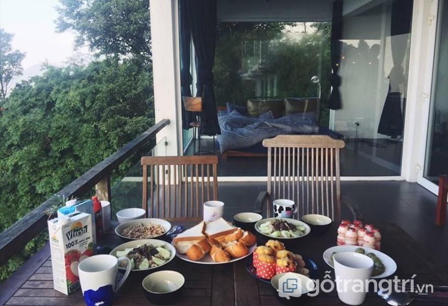 Không gian ăn uống tại homestay (ảnh internet)