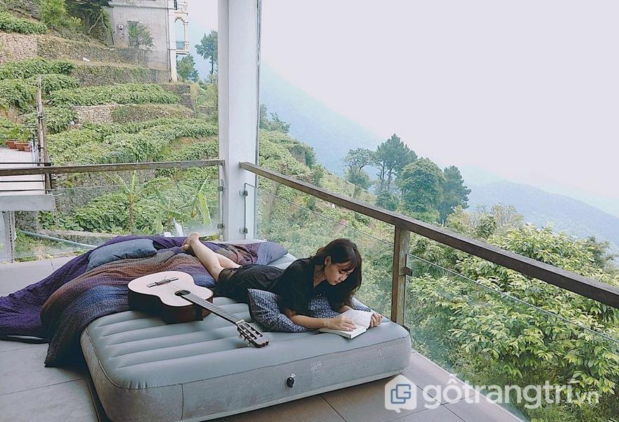 Phòng ngủ tại Le Bleu Floating Clouds - ảnh internet