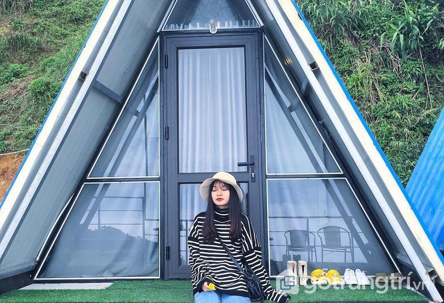 Lều gỗ chữ A tại 90S Homestay Tam Đảo - ảnh internet