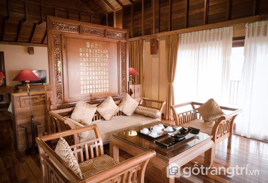 Phòng khách tại Tam Đảo Belvedere Resort - ảnh internet