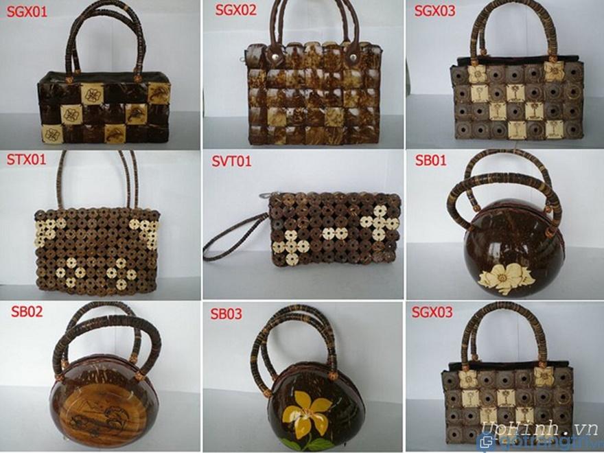 Túi, ví, bóp làm bằng dừa - Ảnh: Internet
