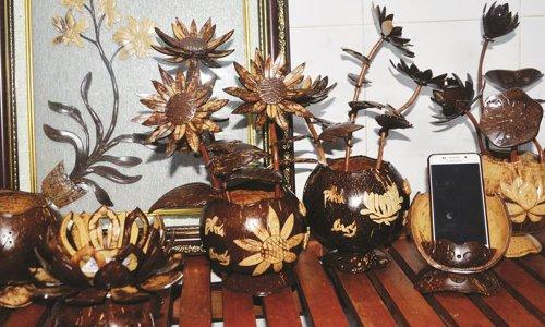 Gáo dừa mỹ nghệ - Sản phẩm tinh hoa bậc nhất của xứ dừa Bến Tre