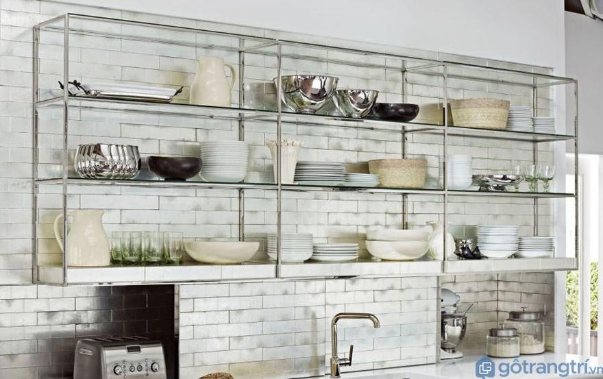 Kệ để đồ nhà bếp đơn giản - Ảnh: Internet