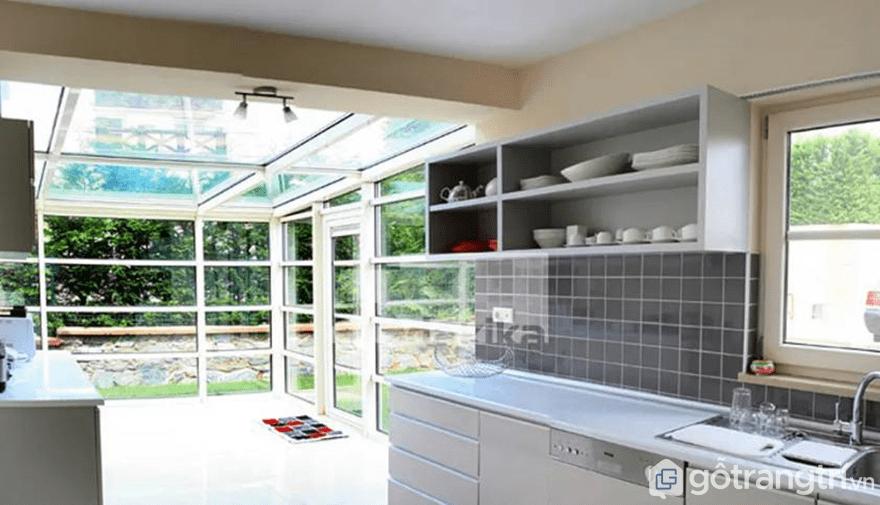 Thiết kế kệ để đồ nhà bếp không có cánh - Ảnh: Internet