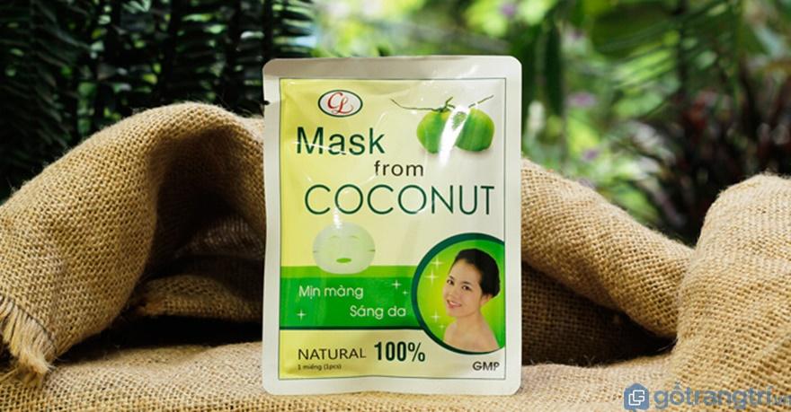 Hình ảnh sản phẩm mặt nạ dừa Bến Tre hiện nay - Ảnh: Internet