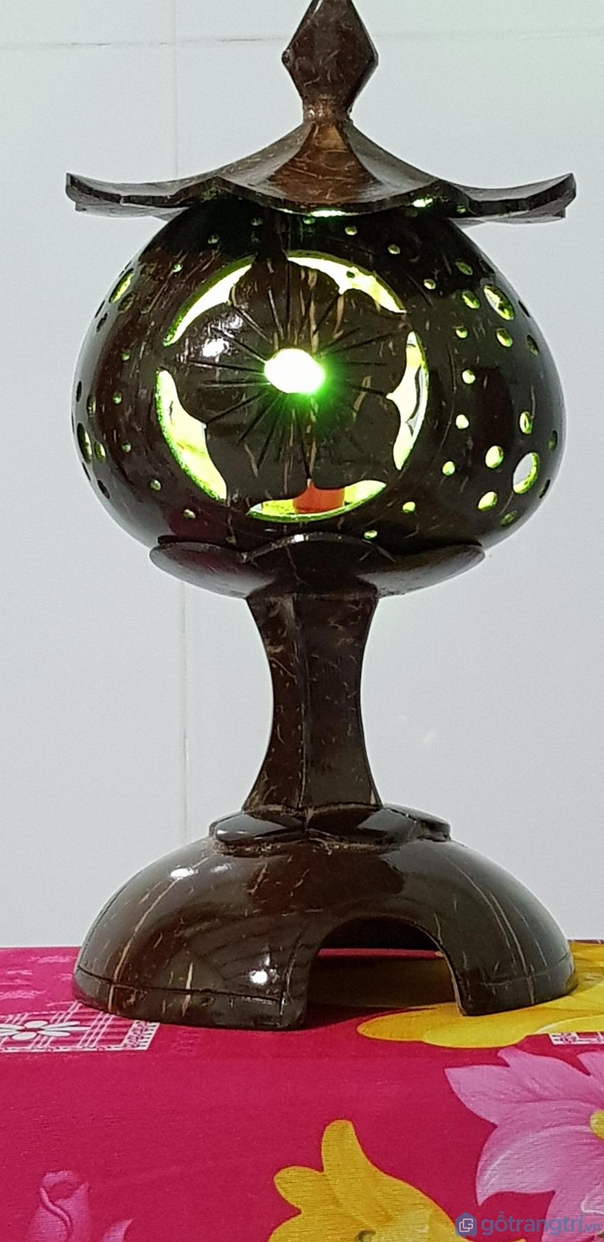 Đèn ngủ tháp gáo dừa bến tre nghệ thuật - Ảnh: Internet