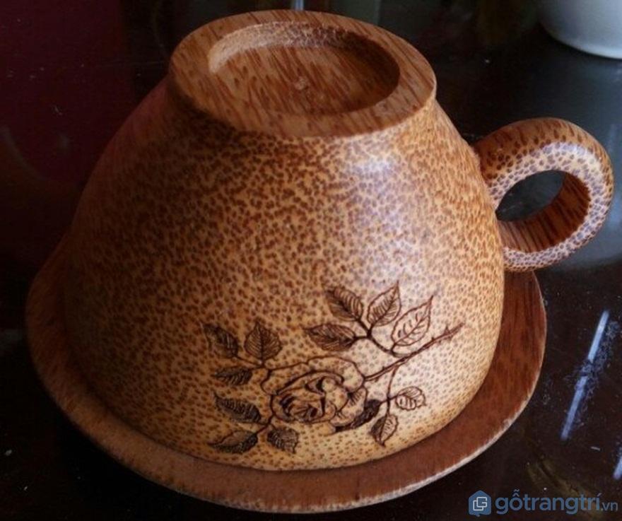 Bộ ly uống cafe làm từ gỗ dừa - Ảnh: Internet