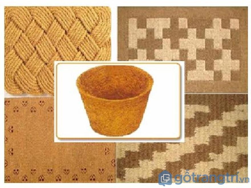 Thảm từ xơ dừa lót chân - Ảnh: Internet