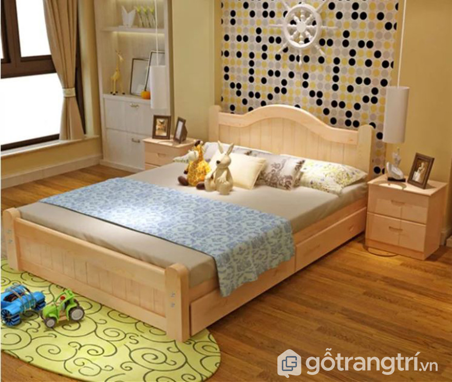 Giường ngủ có hộc kéo mẫu 01