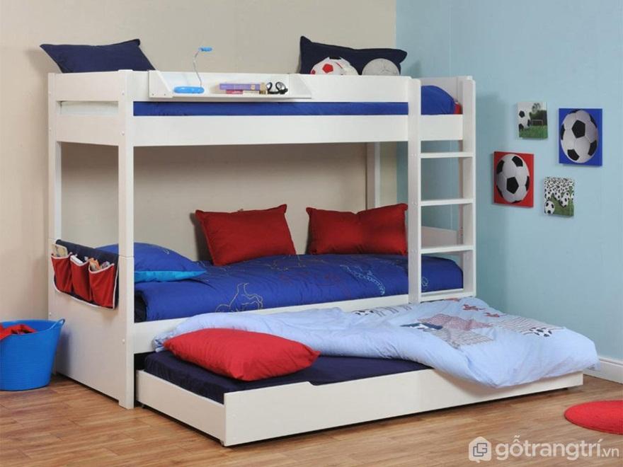 Mẫu giường 3 tầng dạng kéo - Ảnh: Internet