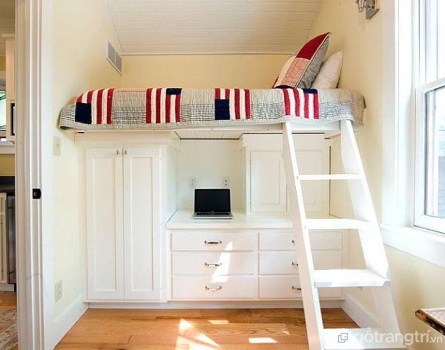 Giường ngủ tích hợp tủ quần áo - Ảnh: Internet
