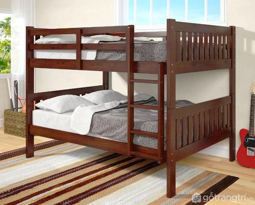 Mẫu giường tầng bằng gỗ luôn mang đến sự sang trọng - Ảnh: Internet