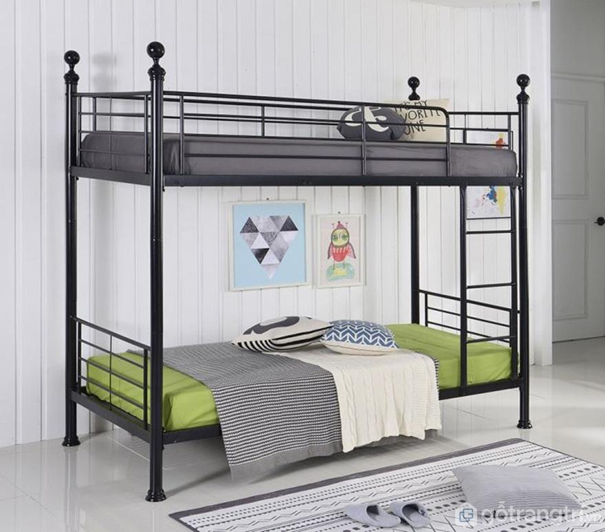 Mẫu giường tầng sắt thiết kế khá đơn giản - Ảnh: Internet