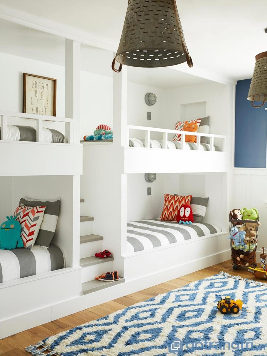 Hãy sử dụng đèn với ánh sáng trắng kết hợp với nội thất sáng màu để giúp phòng ngủ trở nên đẹp hơn - Ảnh: Internet