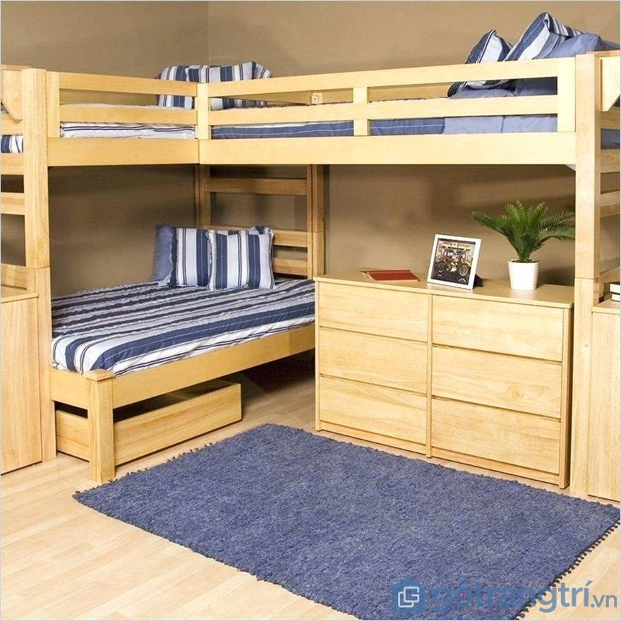 Thiết kế giường tầng đôi mang đến sự tiện nghi - Ảnh: Internet