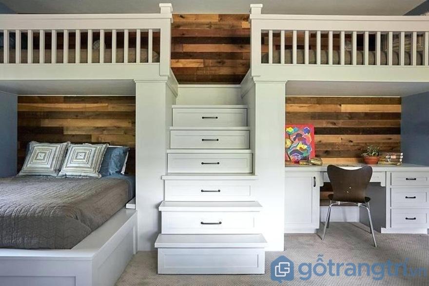 Thiết kế giường tầng đôi mang đến sự tiện nghi cho ngôi nhà - Ảnh: Internet