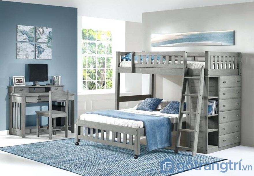 Decor giường tầng với màu xanh lơ - Ảnh: Internet