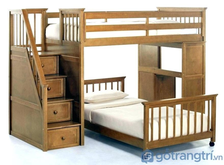 Mẫu 01: Giường ngủ gỗ công nghiệp - Ảnh: Internet