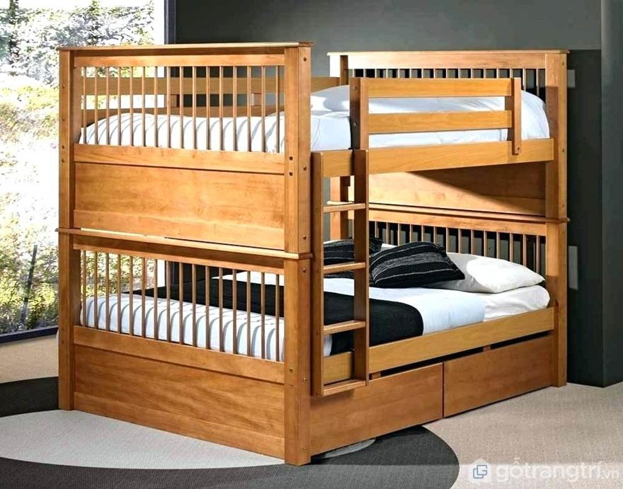 Mẫu 03: Giường ngủ gỗ công nghiệp - Ảnh: Internet
