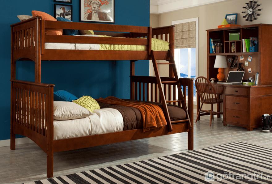 Giường tầng gỗ cho người lớn có 2 kích thước là 1m6 và 1m8 - Ảnh: Internet