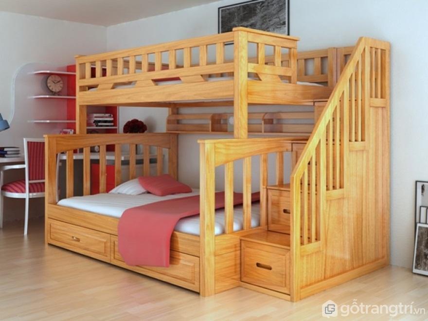 Lý do chọn giường tầng gỗ người lớn làm từ gỗ tự nhiên - Ảnh: Internet