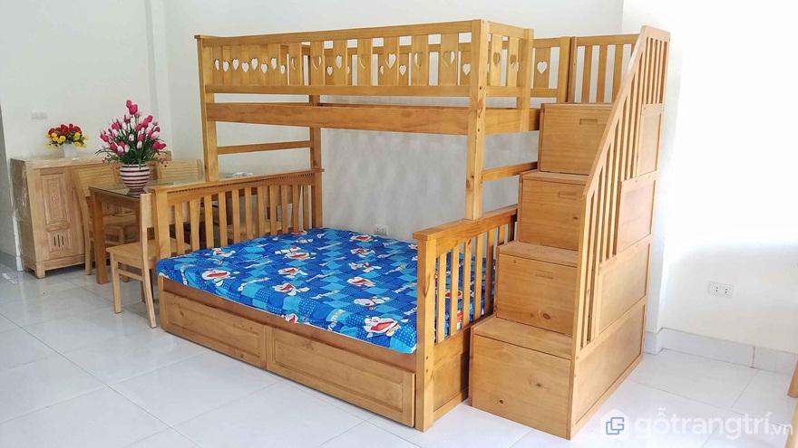 Mẫu 03: Bộ giường tầng gỗ tự nhiên cho người lớn - Ảnh: Internet