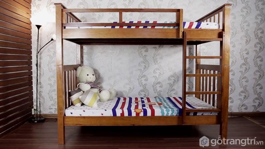 Mẫu 04: Bộ giường tầng gỗ tự nhiên cho người lớn - Ảnh: Internet