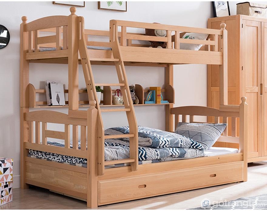 Mẫu 02: Giường tầng gỗ sồi sang trọng - Ảnh: Internet