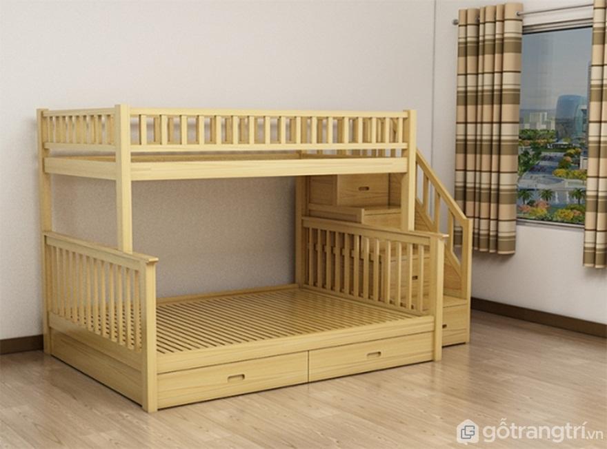 Giường tầng gỗ tự nhiên: Gỗ xoan đào - Ảnh: Internet