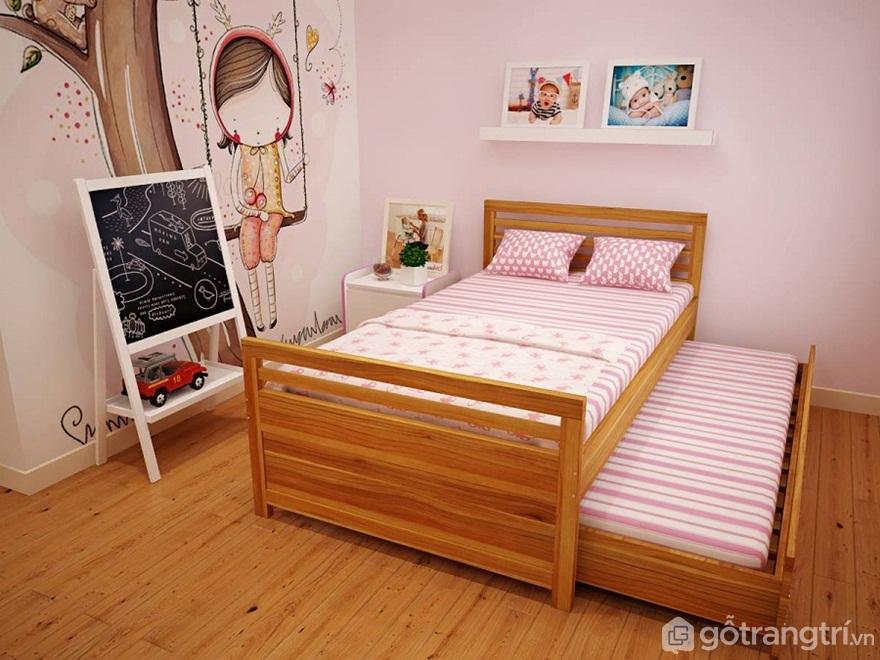 Sử dụng giường kéo ra kéo vào - Ảnh: Internet