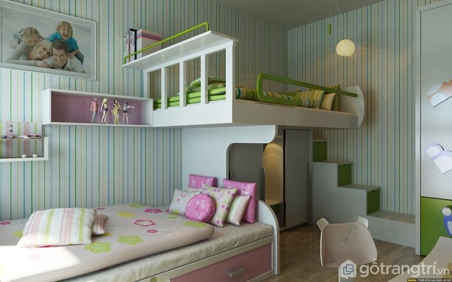 Sử dụng giường giật cấp cho phòng ngủ - Ảnh: Internet