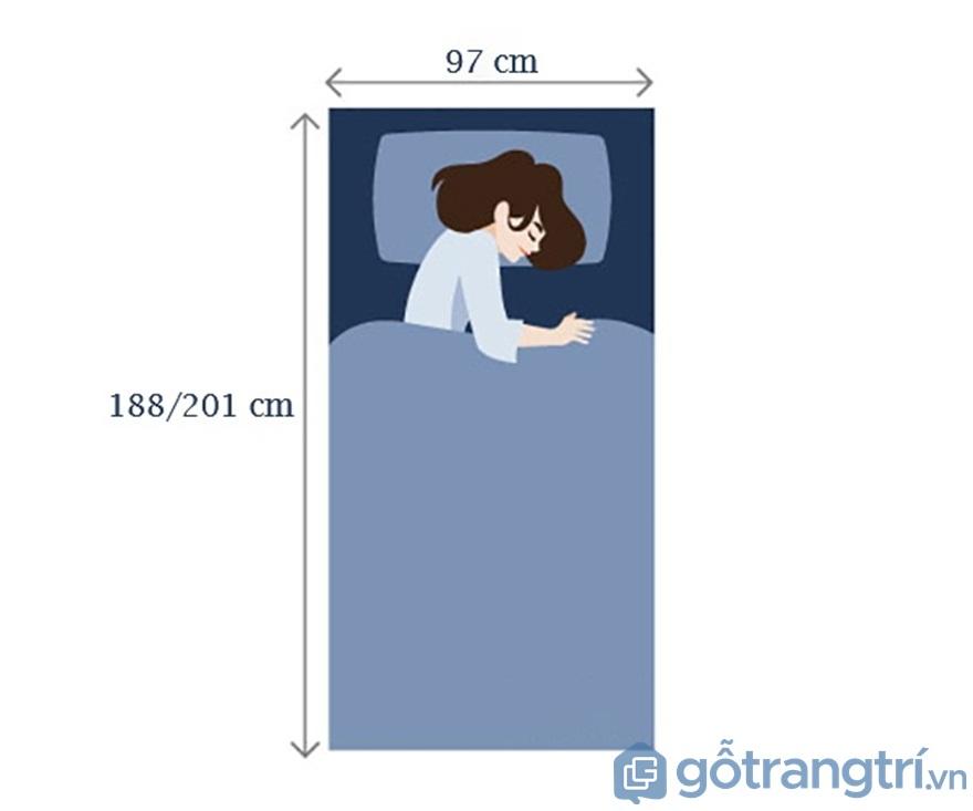 Đối với giường ngủ cho người trưởng thành - Ảnh: Internet