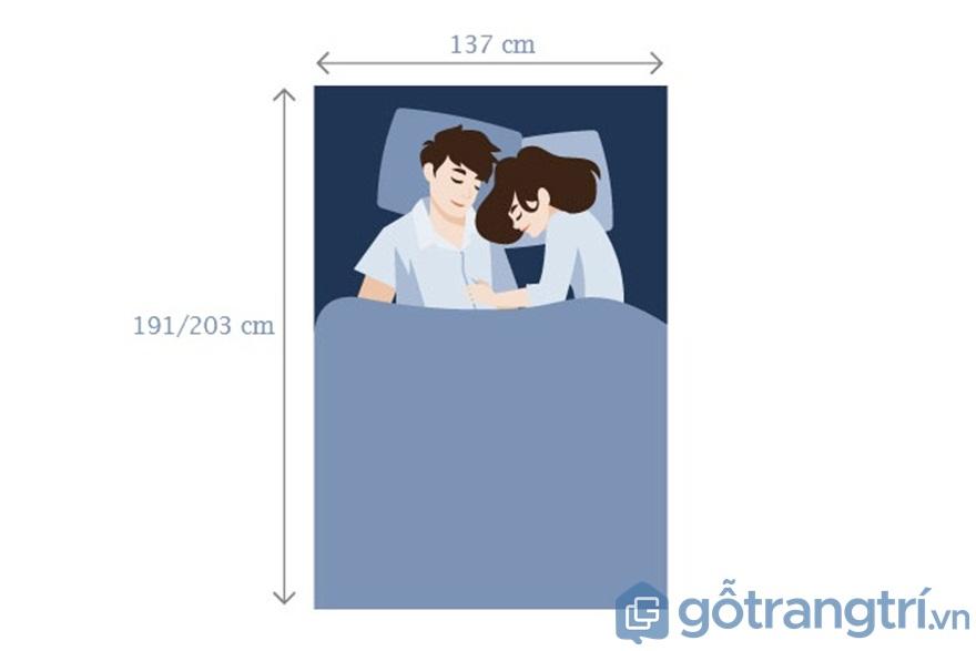 Đối với giường ngủ Double & Double Extra dành cho 2 người lớn - Ảnh: Internet