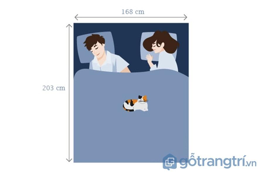 Đối với giường ngủ Queen Extra dành cho 2 người lớn - Ảnh: Internet