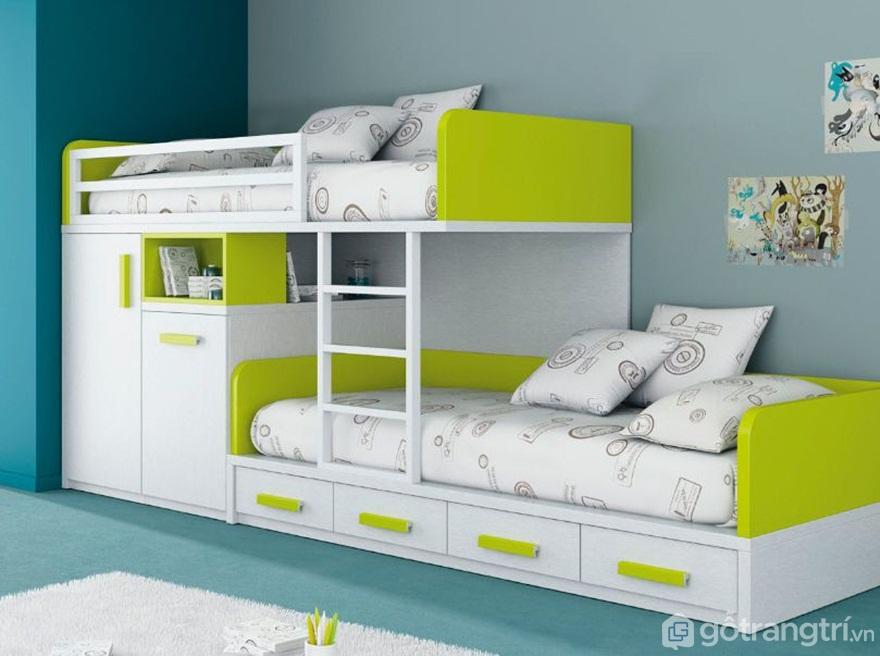 Kích thước cơ bản của giường tầng trẻ em - Ảnh: Internet