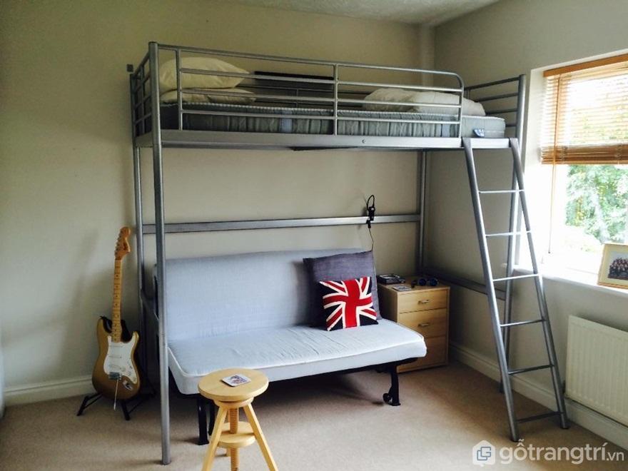 Kích thước giường tầng sắt - Ảnh: Internet