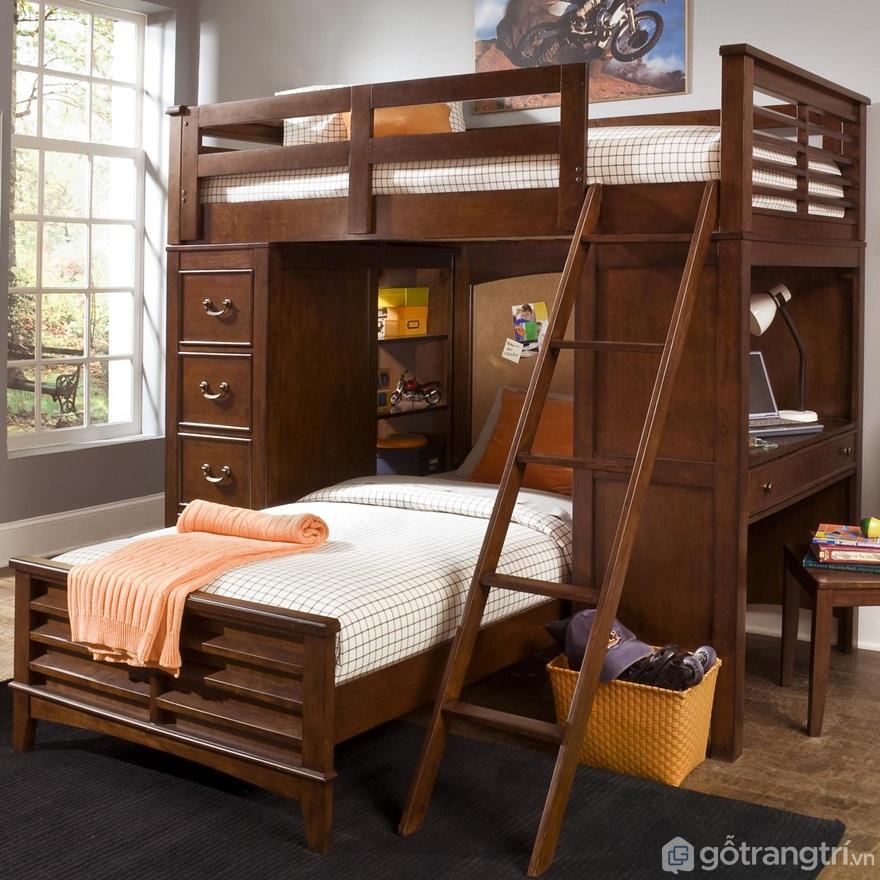 Nhược điểm của giường tầng bằng gỗ tự nhiên - Ảnh: Internet