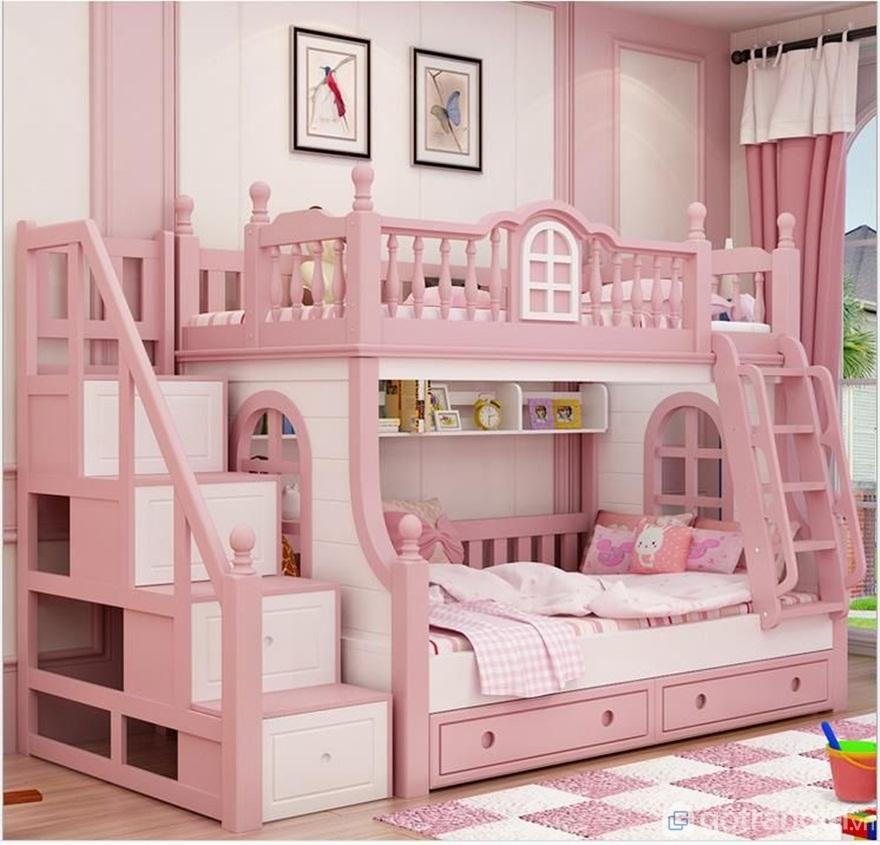 Giường tầng cho bé như là 1 lâu đài thu nhỏ - Ảnh: Internet