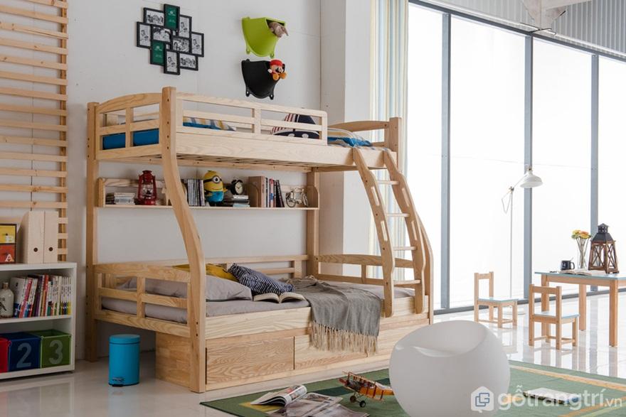 Giường tầng trẻ em với họa tiết trang trí bắt mắt - Ảnh: Internet