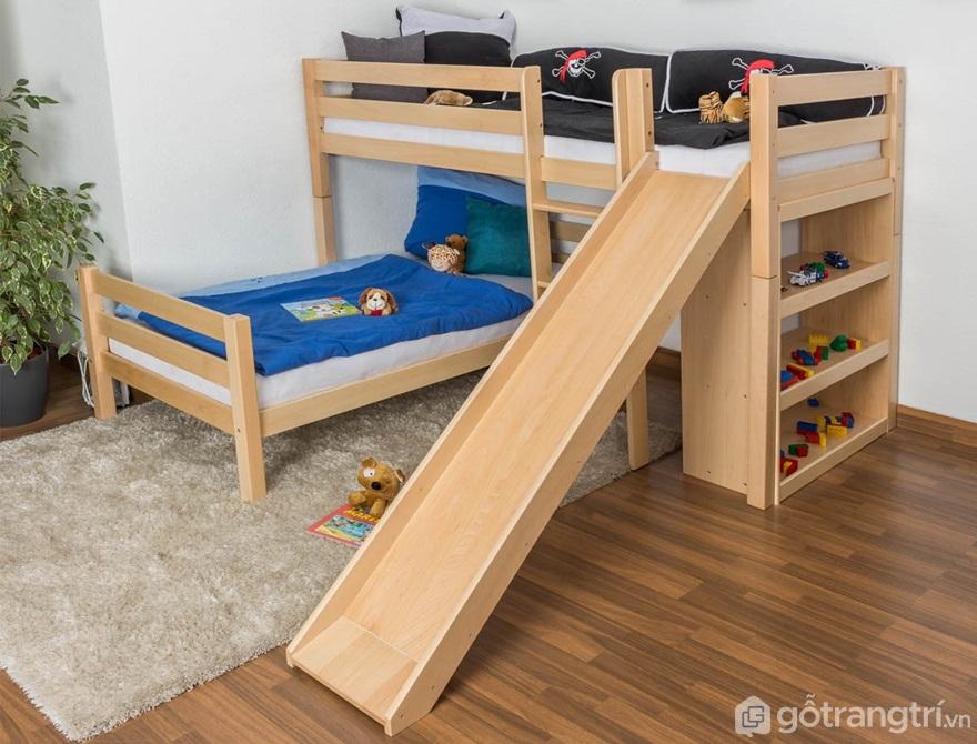 Giường tầng trẻ em tích hợp cầu thang trượt - Ảnh: Internet