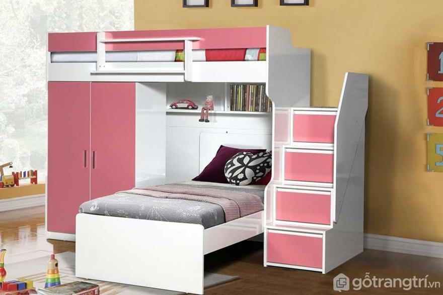 Bộ giường tầng tích hợp tủ quần áo sẽ mang đến 1 không gian sống gọn gàng, ngăn nắp, tiện nghi - Ảnh: Internet