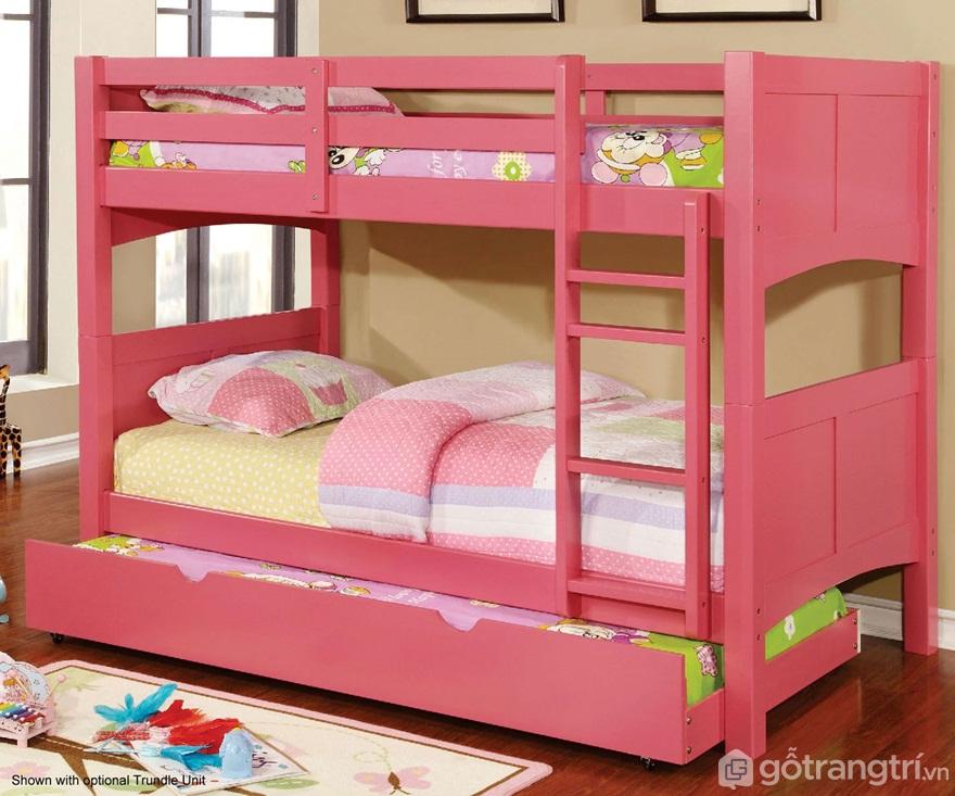 Giường tầng màu hồng siêu đáng yêu - Ảnh: Internet