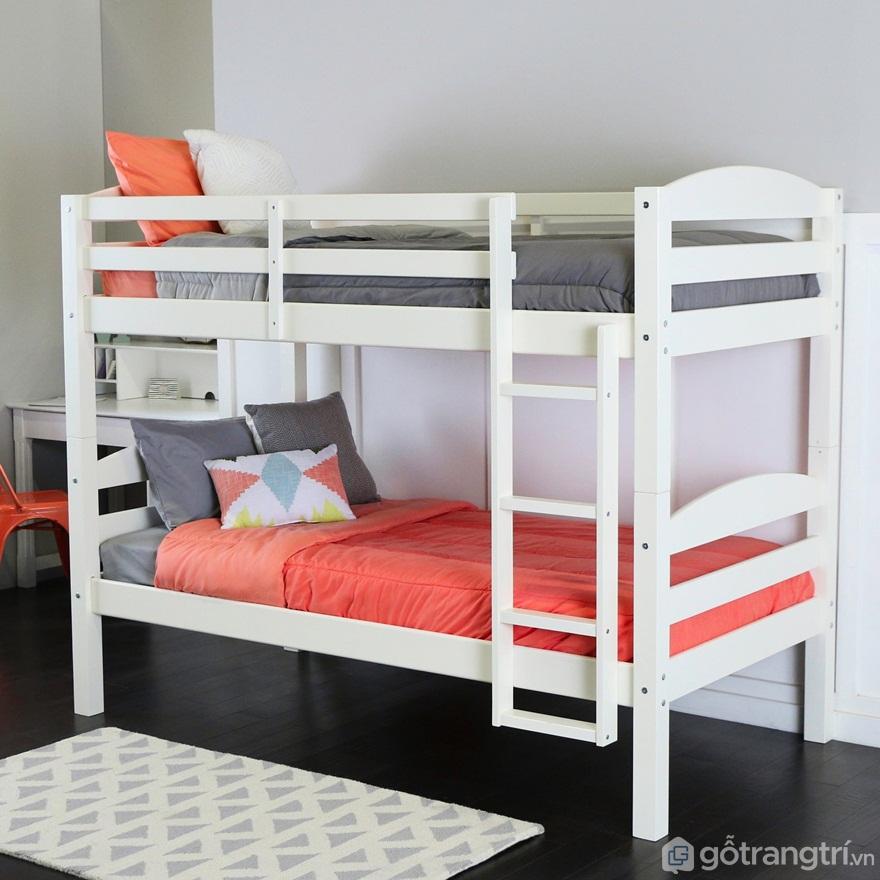 Giường tầng màu trắng luôn mang đến sự mới mẻ, nhẹ nhàng và thoáng rộng cho căn phòng ngủ - Ảnh: Internet