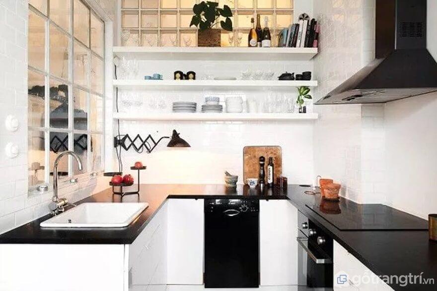 Mẫu 12: Nhà bếp nhỏ hiện đại - Ảnh: Internet