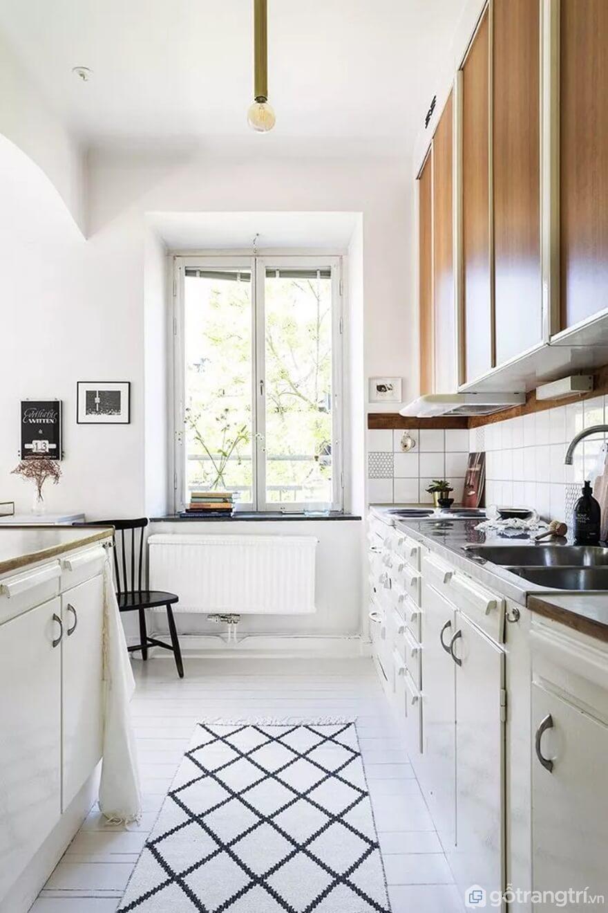 Mẫu 14: Nhà bếp nhỏ đẹp - Ảnh: Internet